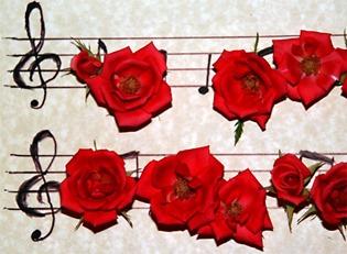 partitura-de-rosas-rojas