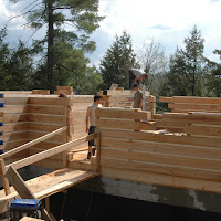 EcoLog construction - outside and inside walls