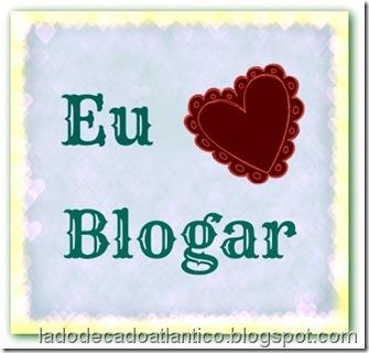 """Imagem com a frase """"Eu amo blogar"""""""