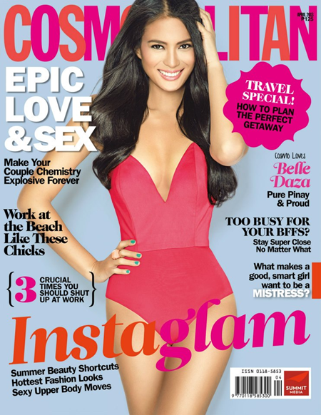 Belle Daza on Cosmo PH Apr 2013 cover