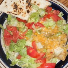 New Mexico Green Chile Chicken Enchilada Casserole