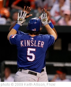 'Ian Kinsler' photo (c) 2009, Keith Allison - license: http://creativecommons.org/licenses/by-sa/2.0/