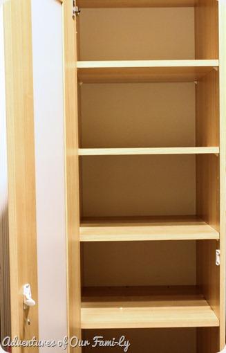 kitchen organization clean shelves