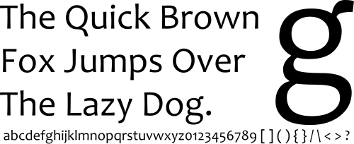 Candara sample
