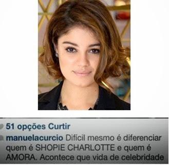 Sophie Charlotte é chamada de Amora pelas costas na Globo