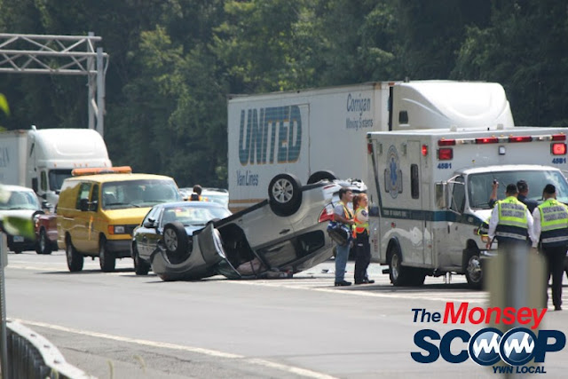 Overturned Vehicle On NYS Thruway  Near Toll Plaza (Moshe Lichtenstein) - IMG_5790.JPG