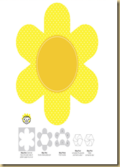 molde cartão flor