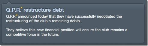 Debt-restructured