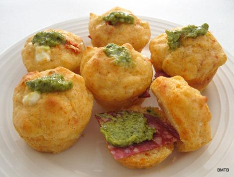 Mini feta muffins