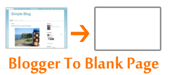 turn blogger to blank page