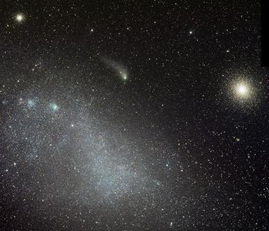 aglomerados e o cometa Siding Spring