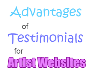 testimonials for artist websites