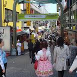 entrance to Takeshita dori shopping street in Harajuku in Harajuku, Tokyo, Japan