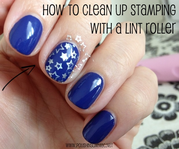 How To Clean Up Stamping with a Lint Roller