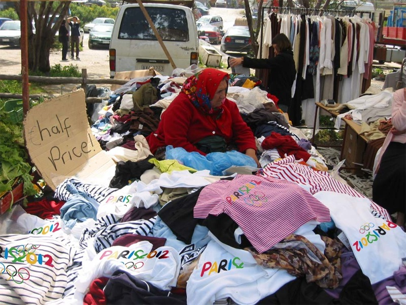 Paris 2012 merchandise for sale half price from street vendor after London wins its bid to host the Games ANON