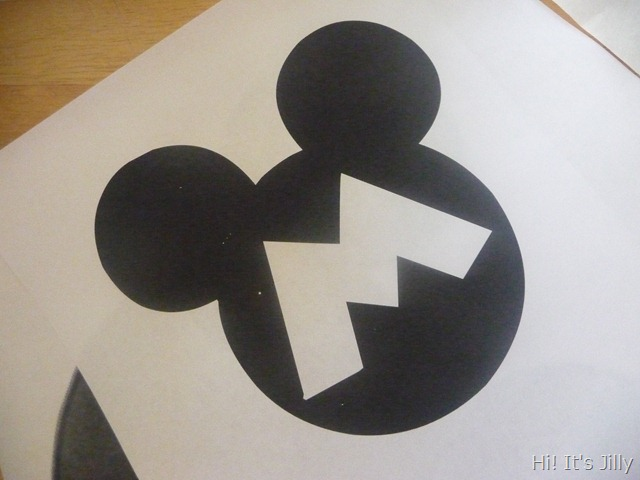 making freezer paper template. Personalized Mickey Head Shirts from Hi! It's Jilly