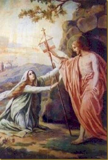 JESUS RESUCITADO CON MAGDALENA