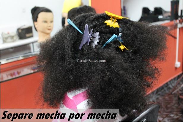 alisamento para cabelo de criança