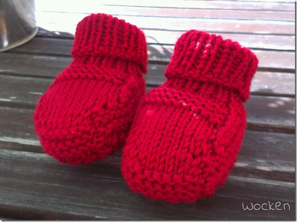 Red Gansey Booties