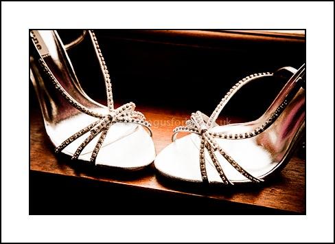 dundee wedding photographer brides shoes