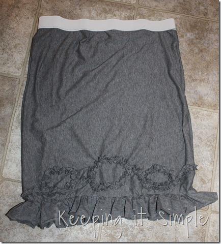 grey knit ruffle skirt (3)
