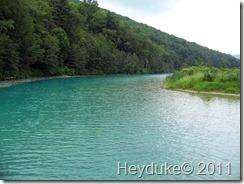 2011-08-08 Hammond Lake Dam spillway