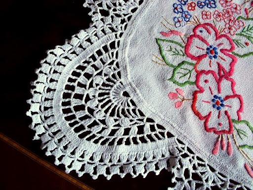 crochet tela blanco rectangular tejido crochet artesanal tapete