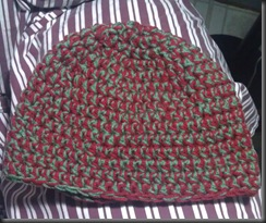 red and green hat