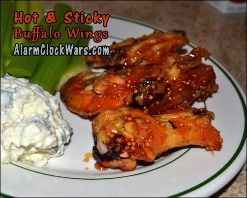 hot and sticky buffalo wings