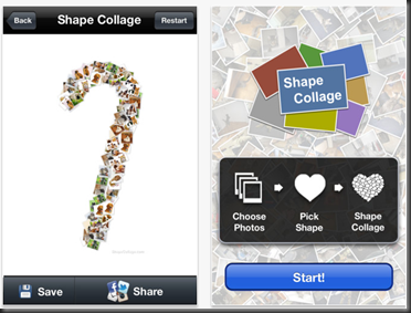 SHAPE COLLAGE : Iphone and Ipad available