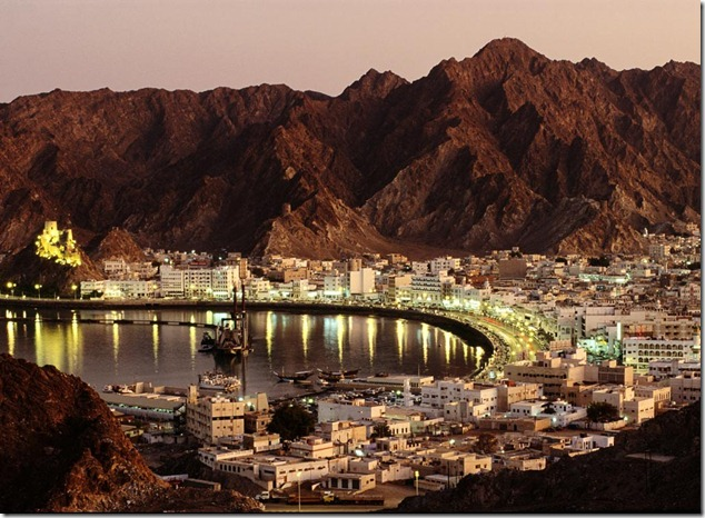 photo of oman at night