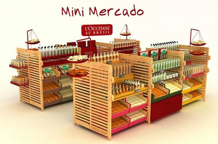 mini mercado loccitane brasil quiosque