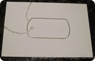 Dog Tag Envelope