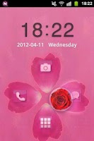 Screenshot of GO Locker Theme Pink Cute Rose