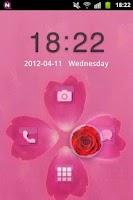 Screenshot of GO Locker Theme Pink Cute Rose