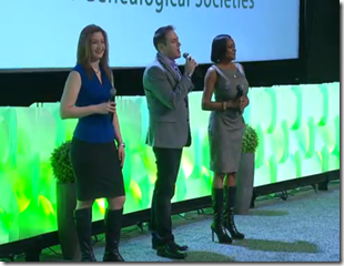 Mary Tedesco, Josh Taylor, and Kenyatta Berry at FGS/RootsTech