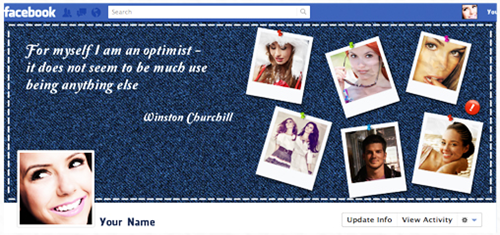 facebook timeline photoshop