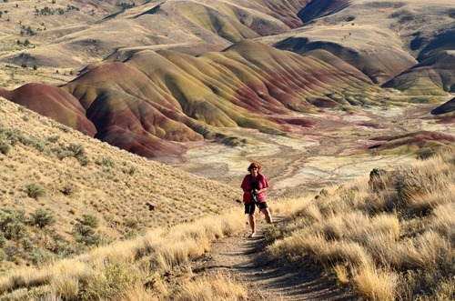 Carroll Rim Trail views Painted Hills John Day Fossil Beds