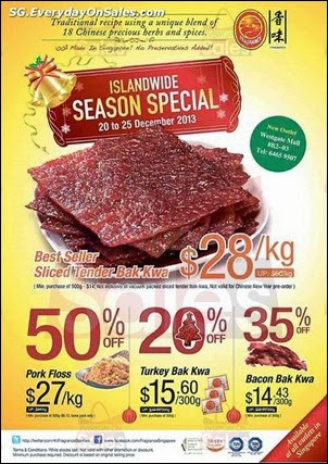 Fragrances Bak Kwa Promotion Christmas Offer Singapore Jualan Gudang Jimat Deals EverydayOnSales Offers