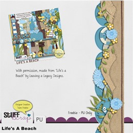 Leaving a Legacy Designs - Life's a Beach - Border Freebie 2 Preview