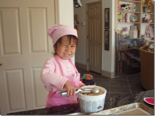 1 6 08 First time baking cookies  XX
