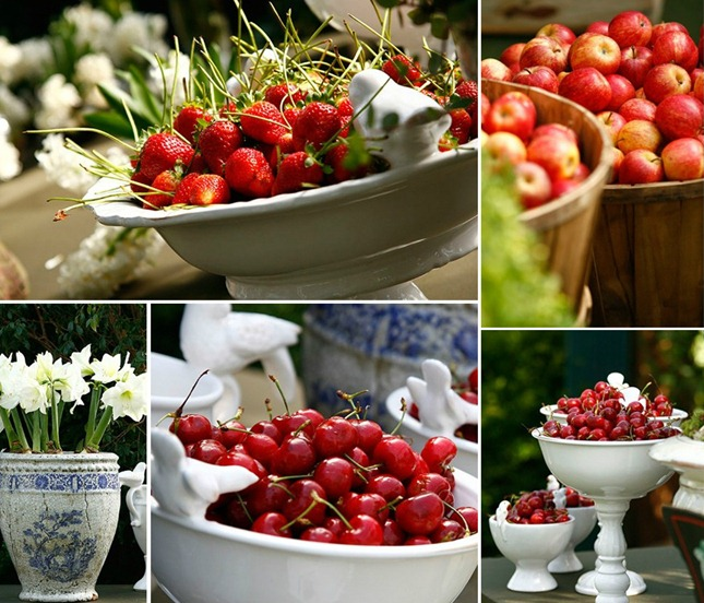decoracao casamento de frutas
