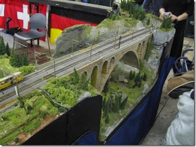 IMG_5552 Stone Arch Bridge on the SwissRail HO-Scale Layout at the WGH Show in Portland, OR on February 18, 2007