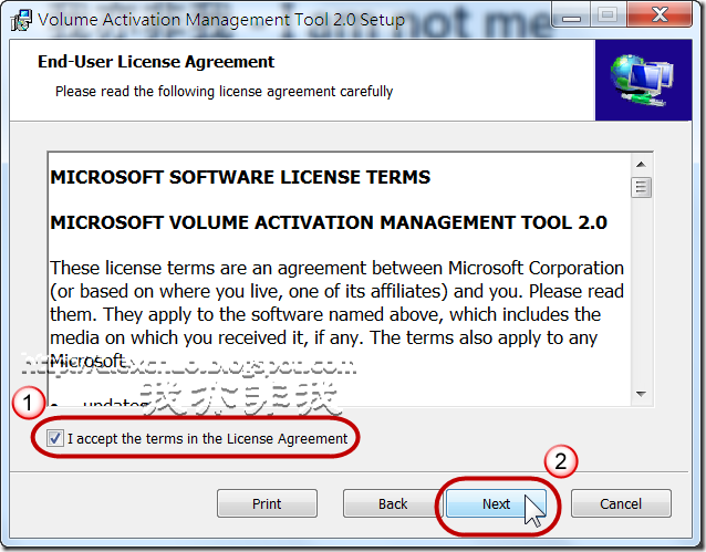 I accept the terms in the License Agreement
