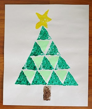 Buggy and Buddy Sponge Painted Christmas Tree