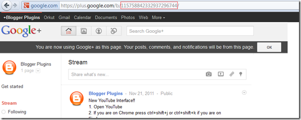 Google Plus Page Badge - Your Page URL
