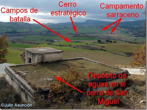 Vista del campo de batalla desde el cerro de San Miguel - Ruta batalla de Valdejunquera