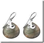 Lace Teardrop Labradorite Earrings