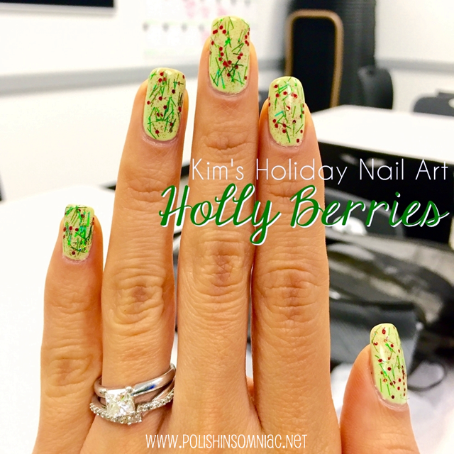 Holly Inspired Nail Art by Kim for polish insomniac