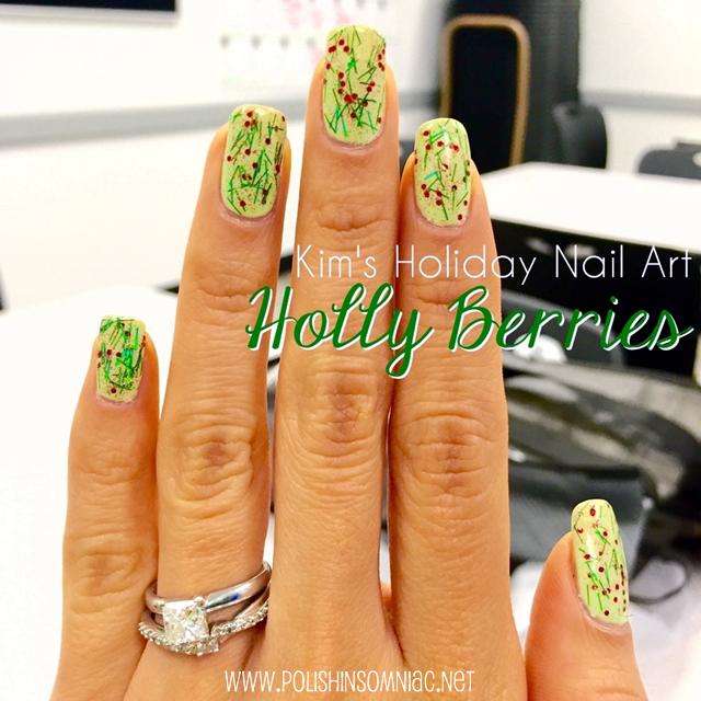 Holly Inspired Nail Art by Kim for polish insomniac